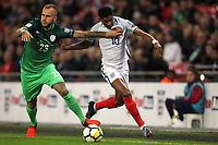 Y<br /> <br /> Aljaz Struna of Slovenia and Marcus Rashford of England during the FIFA World Cup 2018 Qualifying Group F match between England and Slovenia at Wembley Stadium on October 5th 2017 in London, England. <br /> Calcio Inghilterra - Slovenia Qualificazioni Mondiali <br /> Foto Phcimages/Panoramic/insidefoto