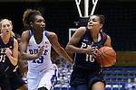 13 November 2016: Penn's Anna Ross (10) and Duke's Crystal Primm (13). The Duke University Blue Devils hosted the University of Pennsylvania Quakers at Cameron Indoor Stadium in Durham, North Carolina in a 2016-17 NCAA Division I Women's Basketball game. Duke defeated Penn 68-55.
