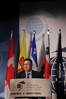 Montreal, CANADA, June, 2015  File Photo.  <br /> <br /> Peter Taptuna, Premier of Nunavut<br /> <br /> ,attend the The International Economic Forum of the Americas <br /> <br /> Photo :   Pierre Roussel - AQP