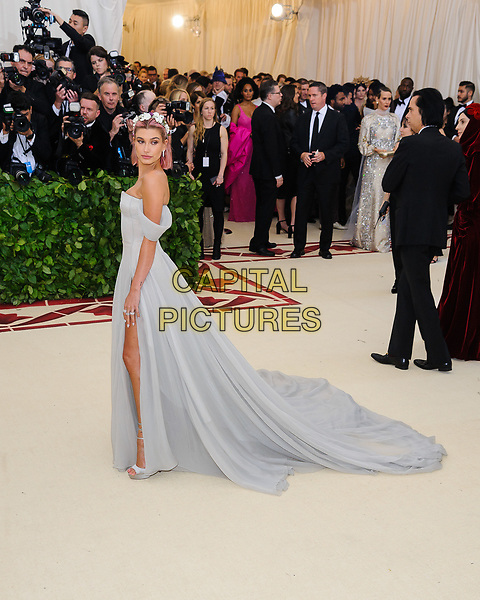 07 May 2018 - New York, New York - Hailey Baldwin. 2018 Metropolitan Museum of Art Costume Institute Gala: &quot;Heavenly Bodies: Fashion and the Catholic Imagination. <br /> CAP/ADM/CS<br /> &copy;CS/ADM/Capital Pictures