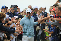 Paul Casey (ENG) greeted by fans on the 18th during the final round of the Porsche European Open , Green Eagle Golf Club, Hamburg, Germany. 08/09/2019<br /> Picture: Golffile | Phil Inglis<br /> <br /> <br /> All photo usage must carry mandatory copyright credit (© Golffile | Phil Inglis)