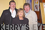 Pat and Nita Harnett from Abbeyfeale and John Downey from Knocknagoshal enjoying the Abbeyfeale Coursing Social held last Saturday night in The GAA Pavillion, Abbeyfeale.
