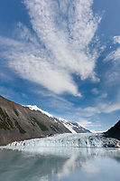 Tidewater face of Cascade glacier, Barry Arm, Chugach National Forest, Prince William Sound, southcentral, Alaska.