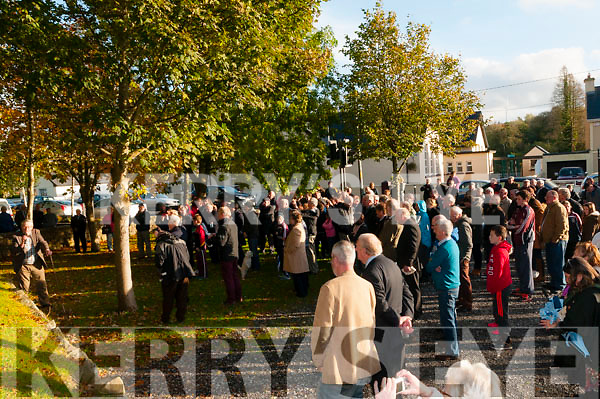 Crowd at the unveiling of the memorial to Con Colbert in Athea on Saturday last.