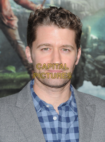 """Matthew Morrison.""""Jack The Giant Slayer"""" Los Angeles Premiere held at Grauman's Chinese Theatre, Hollywood, California, USA..February 26th, 2013.headshot portrait blue grey gray check shirt stubble facial hair .CAP/RKE/DVS.©DVS/RockinExposures/Capital Pictures."""