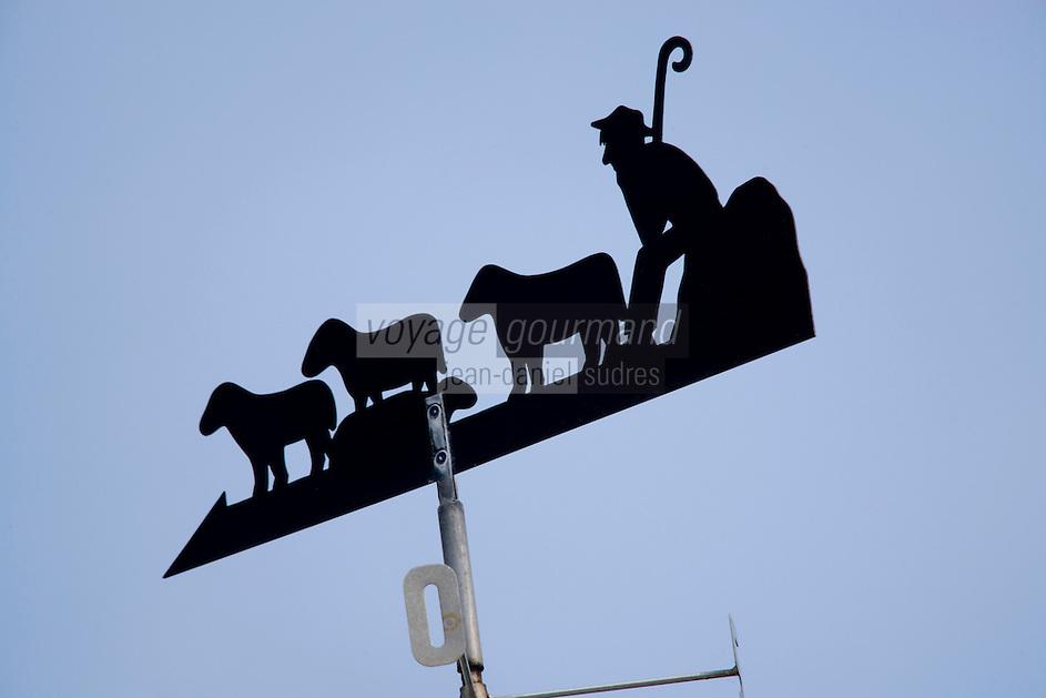 Europe/France/Bretagne/56/Morbihan/Belle-Ile: Détail de la Girouette d'une ferme ou la famille Jouan élève  des Agneaux de Belle-Ile
