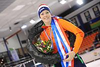 SHORTTRACK: AMSTERDAM: Jaap Edenbaan, 03-01-2016, NK Shorttrack, Nederlands kampioen Jorien ter Mors, ©foto Martin de Jong