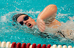 NAUGATUCK ,  CT-101019JS09- Naugatuck's Kelly Brodeur  competes in the 200 Yard Freestyle during their meet with Seymour Friday at Naugatuck High School. <br /> Jim Shannon Republican-American