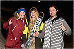 Pix: Shaun Flannery/shaunflanneryphotography.com<br /> <br /> COPYRIGHT PICTURE>>SHAUN FLANNERY>01302-570814>>07778315553>><br /> <br /> 12th September 2015<br /> British Freeski Camp <br /> Camper of the year 2014/15<br /> Mason Flannery pictured with coaches Becky and Any Bennett
