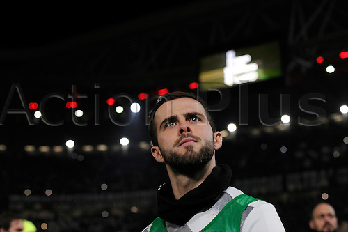 February 17th 2017, Juventus Stadium, Turin, Itlay: Serie A football, Juventus versus Palermo; Miralem Pjanic goes to the bench