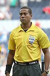 13 July 2015: Assistant Referee Ricardo Morgan (JAM). The Haiti Men's National Team played the Honduras Men's National Team at Sporting Park in Kansas City, Kansas in a 2015 CONCACAF Gold Cup Group A match. Haiti won the game 1-0.