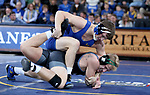 SIOUX FALLS, SD - NOVEMBER 15: Kenny O'Neil from South Dakota State controls Dylan Wood from Binghamton during their 165 pound match Friday night at the Sanford Pentagon in Sioux Falls, SD. (Photo by Dave Eggen/Inertia)