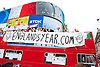 England's Year - a World Cup 2014 song by Muddy Boots from Windsor - open-top bus spotted in London's Piccadilly Circus today 14th June 2014. <br />