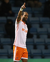 Blackpool's Nathan Delfouneso celebrates scoring the opening goal <br /> <br /> Photographer Rachel Holborn/CameraSport<br /> <br /> The EFL Sky Bet League One - Gillingham v Blackpool - Tuesday 6th November 2018 - Priestfield Stadium - Gillingham<br /> <br /> World Copyright &copy; 2018 CameraSport. All rights reserved. 43 Linden Ave. Countesthorpe. Leicester. England. LE8 5PG - Tel: +44 (0) 116 277 4147 - admin@camerasport.com - www.camerasport.com