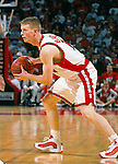 University of Wisconsin guard (14) RIcky Bower during the University of Milwuakee game at the Kohl Center on 12/16/00 in Madison, WI.  The Badgers beat Milwaukee 55-47. (Photo by David Stluka)