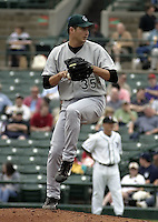 June 22, 2004:  Jason Grilli of the Charlotte Knights, International League (AAA) affiliate of the Chicago White Sox, during a game at Frontier Field in Rochester, NY.  Photo by:  Mike Janes/Four Seam Images
