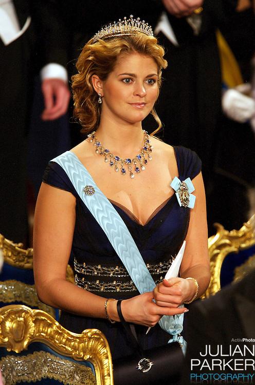 The Swedish Royal Family attend The Nobel Prize Award Ceremony at Stockholm Concert Hall, in Sweden..Princess Madeleine of Sweden attends.
