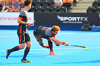 Mink Van Der Weerden of Netherlands shoots from the edge of the China D during the Hockey World League Quarter-Final match between Netherlands and China at the Olympic Park, London, England on 22 June 2017. Photo by Steve McCarthy.<br /> <br /> Netherlands v China at the Olympic Park, London, England on 22 June 2017. Photo by Steve McCarthy.