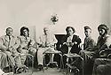 Iraq 1951.In Suleimania, from left Sheikh Hussein Sheikh Abdel Kerim, father of Sheikh Ali, third Tawfiq Wahbi, 4th Aref Effendi, 5th Majid Beg Rassoul Beg, 6 th, Sheikh Taher Sheikh Hussein