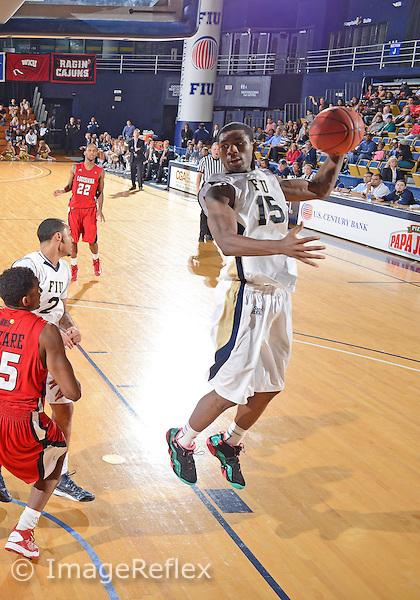 Florida International University forward Tymell Murphy (15) plays against the University of Louisiana, which won the game 75-70 on January 5, 2013 at Miami, Florida. .