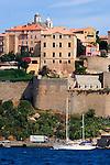 Corsica, France, Calvi, Northwest coast, Mediterranean Sea, Coastal towns in Corsica, French citadel,