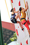 /Futaba Ito (JPN), <br /> AUGUST 23, 2018 - Sport Climbing : <br /> Women's Combined Qualification Speed <br /> at Jakabaring Sport Center Sport Climbing <br /> during the 2018 Jakarta Palembang Asian Games <br /> in Palembang, Indonesia. <br /> (Photo by Yohei Osada/AFLO SPORT)