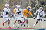 Los Angeles, CA 02-26-17 - Kai  Welsh (UCSB #44) and \l16\ in action during the MCLA conference game between LMU and UC Santa Barbara.  Santa Barbara defeated LMU 15-0.