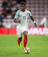 Demarai Gray (Leicester City) of England U21 during the UEFA EURO U-21 First qualifying round International match between England 21 and Latvia U21 at the Goldsands Stadium, Bournemouth, England on 5 September 2017. Photo by Andy Rowland.