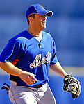 17 March 2007: New York Mets third baseman David Wright takes fielding practice prior to facing the Washington Nationals at Tradition Field in Port St. Lucie, Florida...Mandatory Photo Credit: Ed Wolfstein Photo