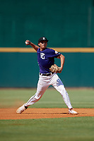 Gavin Conticello (18) of Coral Springs Charter School in Coconut Creek, FL during the Perfect Game National Showcase at Hoover Metropolitan Stadium on June 19, 2020 in Hoover, Alabama. (Mike Janes/Four Seam Images)