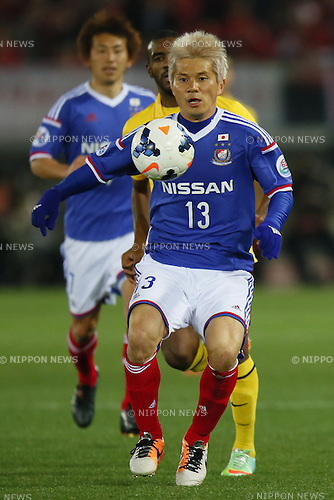 Yuzo Kobayashi (F Marinos), <br /> MARCH 12, 2014 - Football / Soccer : <br /> AFC Champions League 2014 Group G match <br /> between Yokohama F.Marinos 1-1 Guangzhou Evergrande FC <br /> at Nissan Stadium, Kanagawa, Japan. <br /> (Photo by AFLO SPORT)