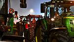 """05.12.2019, Stadtgebiet, Memmingen, GER, Bauern-Demonstration in Memmingen, Ueber 4000 Bauern demonstrierten mit fast 3000 Traktoren in Memmingen. Organisiert wurde die Demo von """"Land schafft Verbindung"""". Auf der anschliesenden Kundgebung sprach ua. die bayr. Landwirtschaftsministerin Michaela Kaniber, <br /> im Bild Traktorkonvoi durch Memmingen<br /> <br /> Foto © nordphoto / Hafner"""