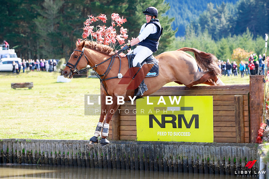 Donna Edwards-Smith rides DSE Cluny into second position during the Bates NZ CCI2* Championship Cross Country at the 2017 NZL-NRM National Three Day Event Championships. National Equestrian Center, Taupo. Saturday 13 May. Copyright Photo: Libby Law Photography