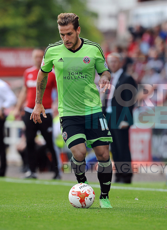 Billy Sharp of Sheffield United<br /> - Sky Bet League One - Swindon Town vs Sheffield United - The County Ground - Swindon - England - 29th August 2015 <br /> --------------------