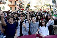 Roma, 22 Marzo 2019<br /> Corteo di studenti e associazioni fino al Mausoleo delle Fosse Ardeatine per il 75°anniversario della strage