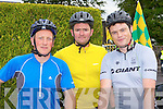 Mark Godley, Terry McDonnell and James Byrne Ballyheigue cycling in the Ring of Kerry cycle on Saturday..
