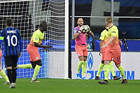 6th November 2019, Milan, Italy; UEFA Champions League football, Atalanta versus Manchester City; Kyle Walker, Manchester City, defender, plays as goalkeeper after the dismissal of keeper Bravo by red card