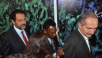 BRASÍLIA, DF, 17.12.2013 – COLETIVA DE IMPRENSA – BRASIL UM PAÍS UM MUNDO – Coletiva de imprensa na abertura da Exposição Brasil um país um mundo, nesta terça-feira, 17, no Centro de Convenções Ulisses Guimarães em Brasília. A exposição passará por todas as cidades sede da Copa do Mundo FIFA 2014. (Foto: Ricardo Botelho / Brazil Photo Press).
