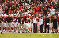Stanford- November 15, 2014: Christian McCaffrey during the Stanford vs Utah game Saturday afternoon at Stanford Stadium.<br /> <br /> Utah won 20-17.