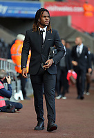 Renato Sanches of Swansea City arrives prior to the game during the Premier League match between Swansea City and Watford at The Liberty Stadium, Swansea, Wales, UK. Saturday 23 September 2017
