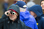 LOUISVILLE, KY - NOVEMBER 18: A spectator looks towards the starting line with binoculars during the Division I Men's Cross Country Championship held at E.P. Tom Sawyer Park on November 18, 2017 in Louisville, Kentucky. (Photo by Tim Nwachukwu/NCAA Photos via Getty Images)