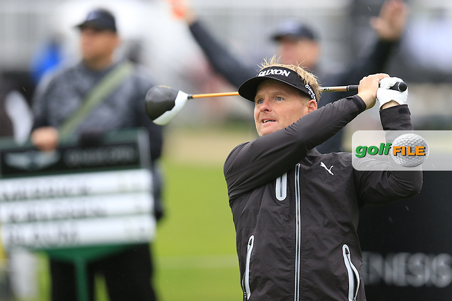 Soren Kjeldsen (DEN) tees off the 18th tee during Friday's Round 2 of the 2017 Genesis Open held at The Riviera Country Club, Los Angeles, California, USA. 17th February 2017.<br /> Picture: Eoin Clarke | Golffile<br /> <br /> <br /> All photos usage must carry mandatory copyright credit (&copy; Golffile | Eoin Clarke)