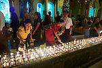 Lighting Incense, Festival Of The Moon, Shwedagon Pagoda
