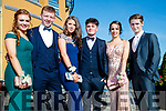 Rachel Burke, Gearoid Mahony, Amy Fealy, Jack Nolan, Lauren Foley and Jordan Walsh, pictured at Causeway Comprehensive School Debs, at Ballyroe Heights Hotel, Tralee, on Wednesday, August 9th last,