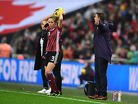 9th November 2019; Wembley Stadium, London, England; International Womens Football Friendly, England women versus Germany women; Phil Neville Head Coach for England gestures as Germany take a throw-in - Editorial Use