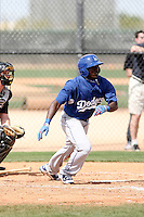 Trayvon Robinson, Los Angeles Dodgers 2010 minor league spring training..Photo by:  Bill Mitchell/Four Seam Images.