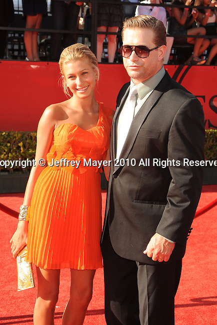 LOS ANGELES, CA. - July 14: Stephen Baldwin and daughter Hailey arrive at the 2010 ESPY Awards at Nokia Theatre L.A. Live on July 14, 2010 in Los Angeles, California.