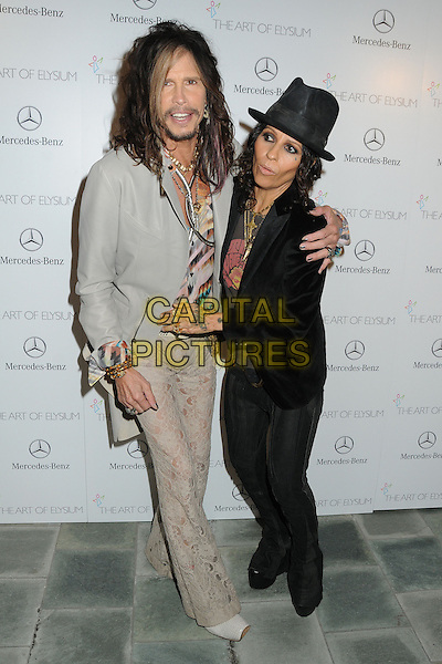 11 January 2014 - Los Angeles, California - Steven Tyler, Linda Perry. 7th Annual Art of Elysium Heaven Gala held at the Skirball Cultural Center.  <br /> CAP/ADM/BP<br /> &copy;Byron Purvis/AdMedia/Capital Pictures