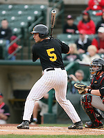 April 28, 2007:  Catcher Joe Pavone (5) of Greece Athena High School during a game at Frontier Field in Rochester, NY.  Pavone selected to attend college at the University of Connecticut.  Photo by:  Mike Janes/Four Seam Images