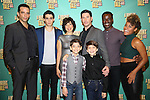 """Nick Cordero, Bobby Conte Thornton, Lucia Giannetta, Richard H. Blake, Athan Sporek, Hudson Loverro, Bradley Gibson and Ariana DeBose during the photocell for """"A Bronx Tale - The New Musical""""  at the New 42nd Street Studios on October 21, 2016 in New York City."""